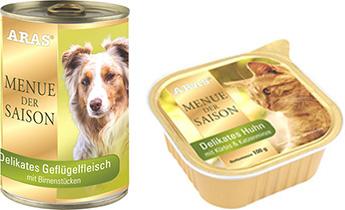 Aras Saison Katzenfutter und Hundefutter